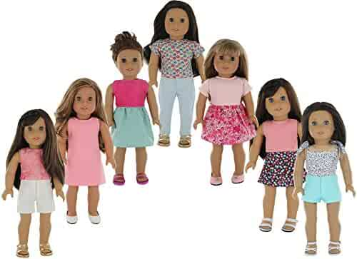 American Girl Doll Clothes Wardrobe Makeover- 7 Complete Outfits, Fits 18