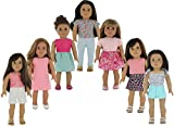 "American Girl Doll Clothes Wardrobe Makeover- 7 Complete Outfits, Fits 18"" Doll Clothes- by PZAS Toys"