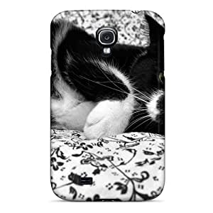 Fashion Tpu Case For Galaxy S4- Cat Black Defender Case Cover