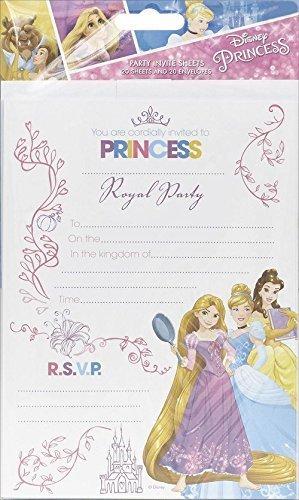 amazon com disney princess pack of 20 party invitations rapunzel