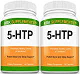 2 Bottles 5-HTP 100mg Griffonia Simplicifolia Extract Seed 180 Total Capsules KRK Supplements For Sale