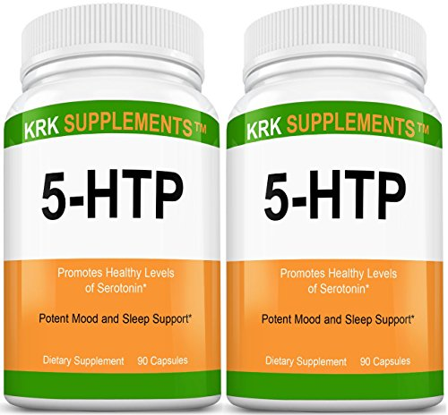 2 Bottles 5-HTP 100mg Griffonia Simplicifolia Extract Seed 180 Total Capsules KRK Supplements