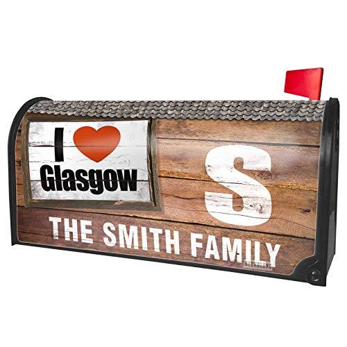 NEONBLOND Custom Mailbox Cover I Love Glasgow Region: City of Glasgow, Scotland