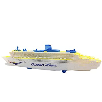 Amazoncom Toy Cruise Ship Children Electric Glowing Motor Yacht - Toy cruise ship