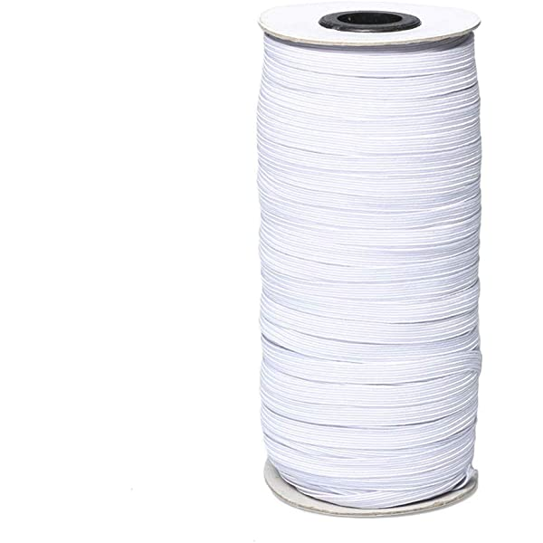 for DIY 100 PCS Elastic Bands for Sewing and Face Coverings 42 Yards,About 1//4 inch Elastic and Aluminum Strips
