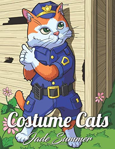 Costume Cats Coloring Adorable Cartoon product image