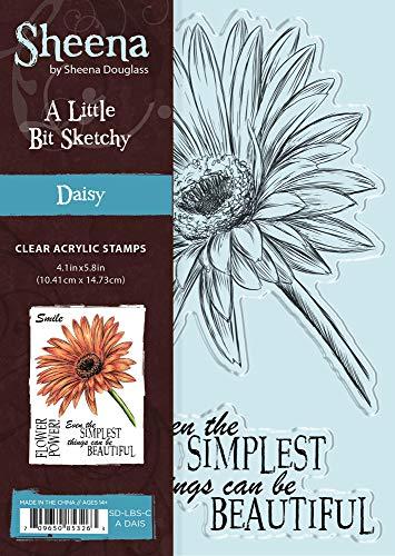 (Sheena SD-LBS-CA-DAIS Little Bit Sketchy A6 Daisy Clear)