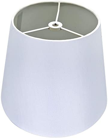 aca2577ea226 White Lamp Shade,Alucset Barrel Fabric Small Lampshade for Table Lamp and  Floor Light,