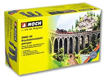 Noch 58665 437 5 mm, 30 Degree Curved Quarrystone Viaduct Landscape  Modelling