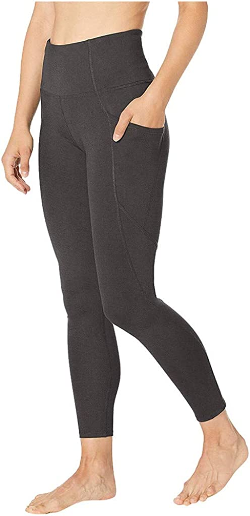 B-Gray,Medium Auimank High Waist Out Pocket Fitness Pants,Tummy Control,Women Workout Leggings Sports Running Yoga Athletic Yoga Pant