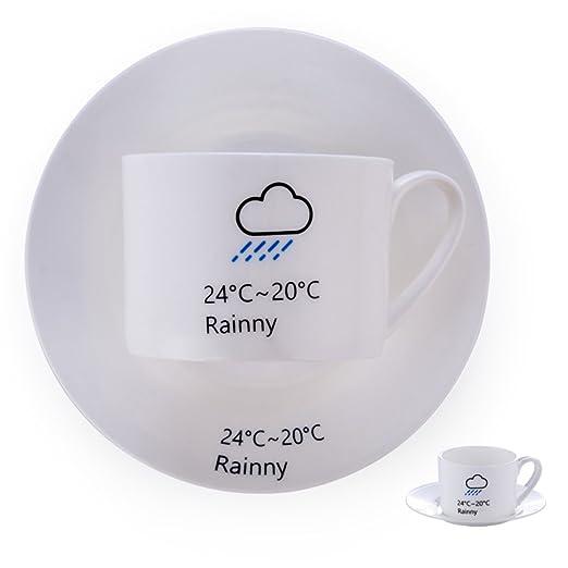 Conjunto de taza y plato de café de China del hueso del ...