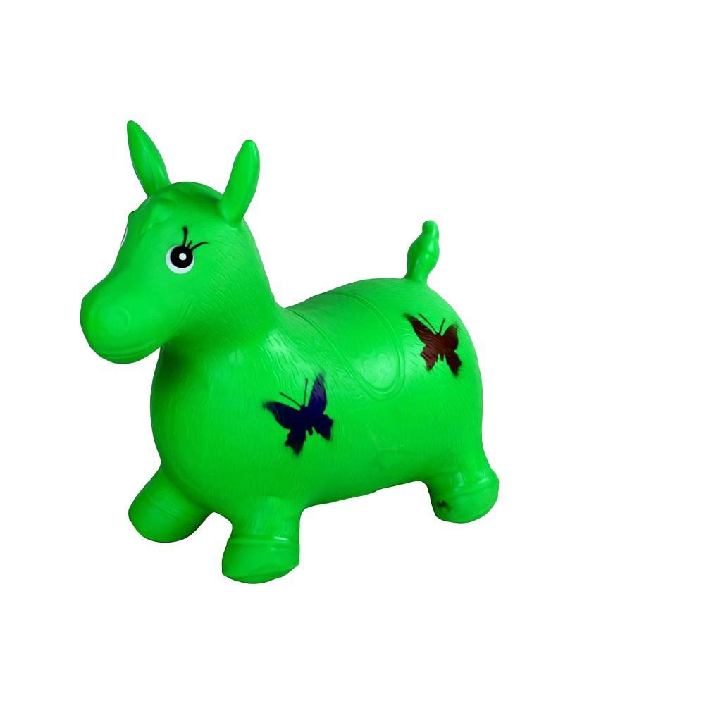 WHTBB Blue Hopping Horse Hopper,Rubber Bouncy/Bouncing/Rocking Horse, Riding Large Hopper/Hopping/Hop Farm Animals Toys,Horse Inflatable with Pump by WHTBB