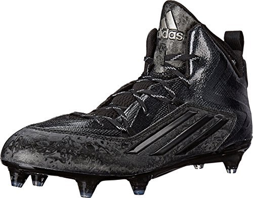 adidas Crazyquick 2.0 Mid D Mens Football Cleats 12.5 Black-Titanium (12.5 US, Black/Black/Titanium)