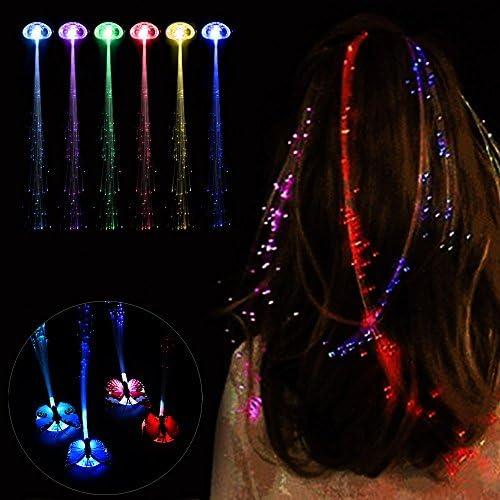 [해외]Elevin(TM)???? LED Wigs Glowing Flash Ligth Hair Braid Clip Hairpin Christmas Birthday Toy / Elevin(TM)???? LED Wigs Glowing Flash Ligth Hair Braid Clip Hairpin Christmas Birthday Toy