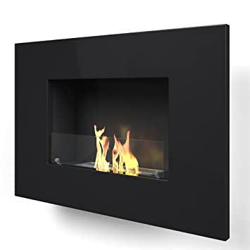 Shop Imagin ARLINFTON-BLACK Wall Mounted Bio-Ethanol fireplace - Black. Free delivery on eligible orders of ?20 or more.
