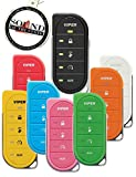 Viper 2 Way 7856V LED Replacement Remote Transmitter with 7 Different Colored Cases, Orange, Red, Yellow, Green, Blue, Pink, White and Blue with Free SOTS Air Freshener