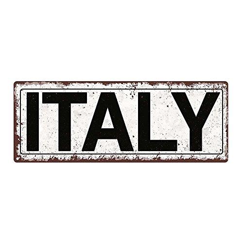 Italy Metal Street Sign, Rustic, Vintage
