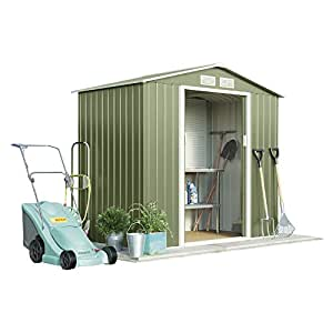 Metal caseta de jardín pequeña para exteriores de almacenamiento ...