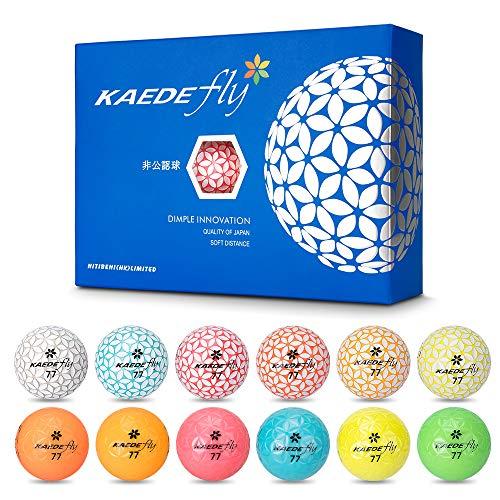 KAEDE Golf Balls, 12 Colors (One Dozen)