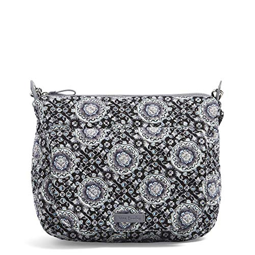 Vera Bradley Carson Shoulder Bag, Signature Cotton, Charcoal Medallion