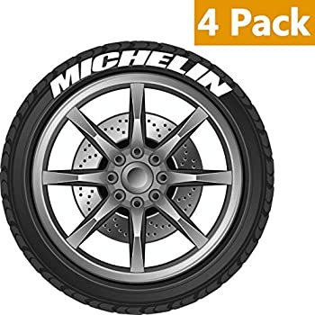 alorr tire stickers for michelin tire decals kit permanent rubber 4 pack diy rubber tire lettering stickersnot including glue