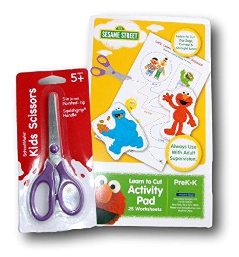 Workbook cutting worksheets : Amazon.com : Pre-K Learn To Cut Supply Set - Sesame Street ...