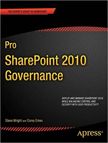 Book Pro SharePoint 2010 Governance (Expert's Voice in Sharepoint)