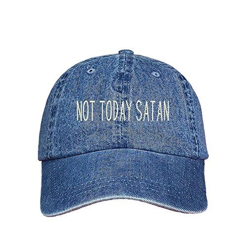 Today Satan Dad Hat- Denim Baseball Cap- Unisex ()