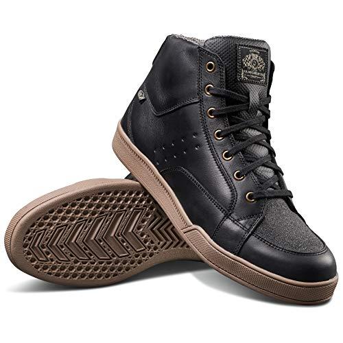 Roland Sands Design Fresno Riding Shoe Black/Gum 11 (More Size and Color - Fresno Leather
