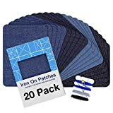 Iron on Patches for Clothing Repair 20PCS, Denim
