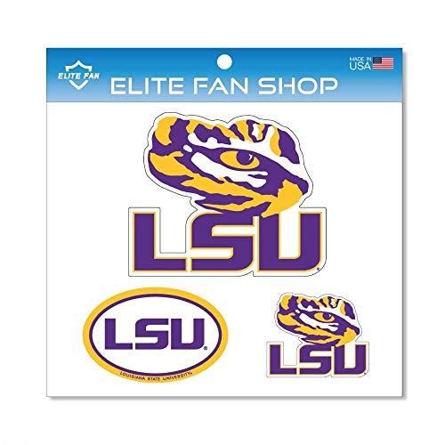 Elite Fan Shop LSU Tigers Magnet 3-Pack - Purple ()