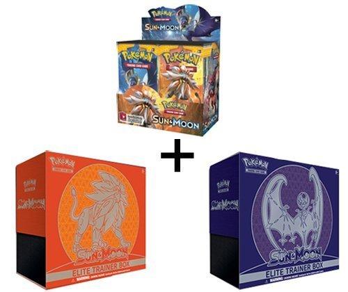 Pokemon TCG Sun & Moon Booster Box + BOTH Elite Trainers