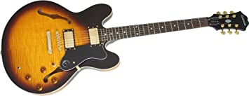 Epiphone DOT Deluxe flametop semi-hollowbody guitarra eléctrica Vintage Sunburst