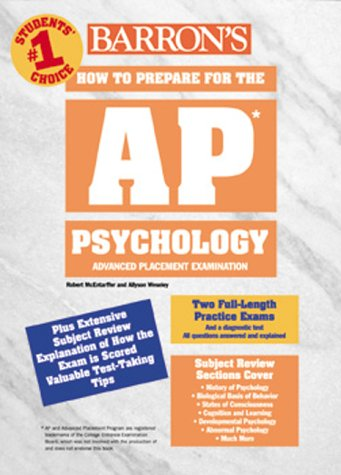 Barron's How to Prepare for the Advanced Placement Exam: AP: Psychology (Barron's AP Psychology Exam)