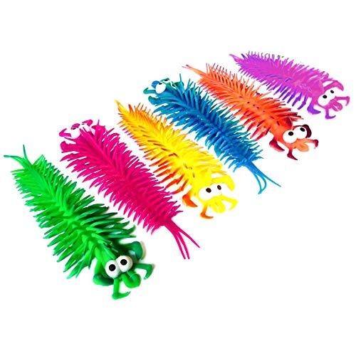 Set of 6 Stretchy centipede Sensory Toys - Filler - Favor - Girls - - Toy Centipede