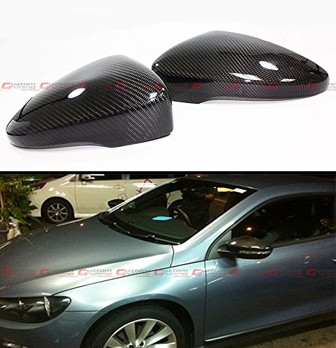 For 2009-2014 VolksWagen Passat CC & Scirocco MK3 Carbon Fiber Mirror Cover Direct Replacement