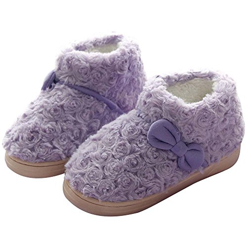 Eastlion Women's & Children's Lovely Winter Keep Warm Anti-Skid Plush Home Indoor Shoes,Sippers Color 11