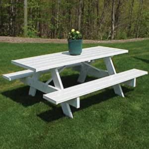 NEW Traditional White Picnic Table (8 foot)