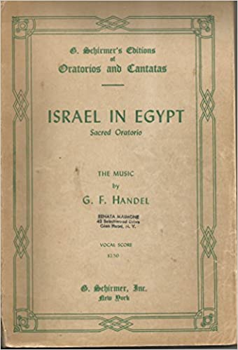 Contemporary Handel Israel In Egypt Vocal Score