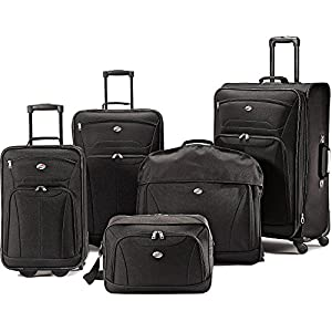 Amazon Com American Tourister 5 Piece Luggage Set Black