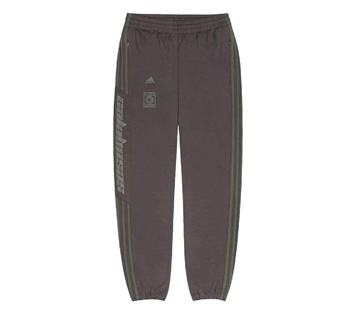 f479c9a6 adidas Yeezy Kanye West Calabasas Track Pants Brown EA1901 Size L at Amazon  Men's Clothing store: