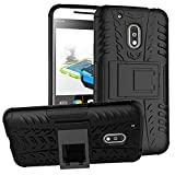 Moto G4 Play Cover Hybrid DWaybox Rugged Heavy Duty Armor Hard Back Cover Case for Motorola Moto G4 Play / Moto G Play 4th Generation 2016 XT1607/ XT1609/XT1600/XT1603 Stand Case with Kickstand (BlacK)