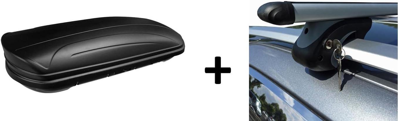 Vdp Dachbox Maa320m Relingträger Alu Kompatibel Mit Dacia Dokker Ab 12 Abschließbar Auto