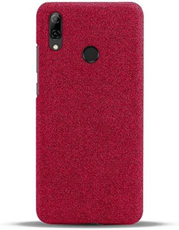 Suhctup Hoes compatibel met Huawei 7i stijlvolle elegante stoffen cover telefoonhoesbescherming rondom ultra dunne antivingerafdruk antikras stofpatroon beschermhoes tas Huawei 7irood