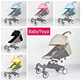 Four Segments Solid 175 Degree Sun Cover and Seat Cushion Set Baby Stroller Accessories Sun Cover Canopy Seat