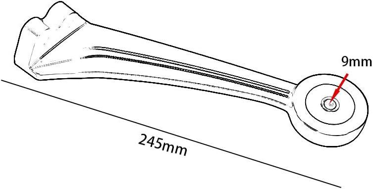 XX ecommerce /Échappement CNC pour moto avec support de fixation pour tube d/échappement de moto 2014-2018 B-M-W R Nine T RNineT R9T 2015 2016 2017