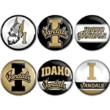 WinCraft Idaho Vandals Official NCAA Metal Button Badge Pin Set 6 Pack by 989994
