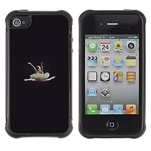 Suave TPU GEL Carcasa Funda Silicona Blando Estuche Caso de protección (para) Apple Iphone 4 / 4S / CECELL Phone case / / ballerina dancer vignette beautiful /