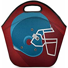 Design Lightweight Neoprene Lunch Bag Insulated Lunch Tote Bag Lunch box Custom American Football Helmet