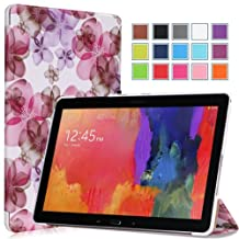 Moko Samsung Galaxy Note PRO & Tab PRO 12.2 Case - Ultra Slim Lightweight Smart-shell Stand Case for Galaxy NotePRO (SM-P9000) & TabPRO (SM-T900 / T905) 12.2 Android Tablet, Floral PURPLE